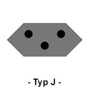Steckdose Typ J