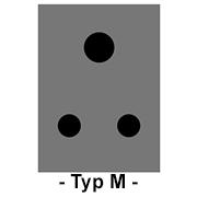 Steckdose Typ M